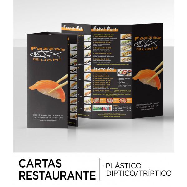 Cartas Restaurante Plastificadas