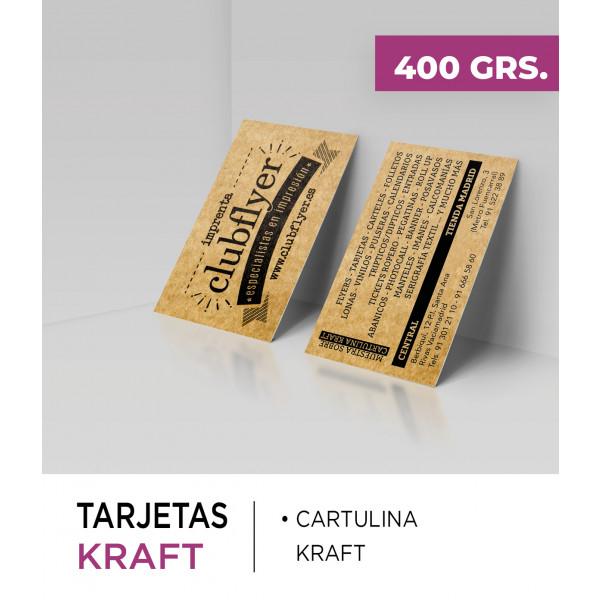Tarjetas Kraft