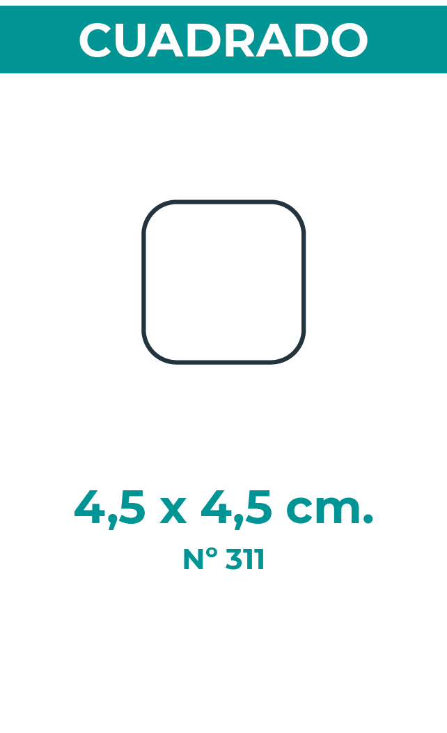 4,5 X 4,5 CM