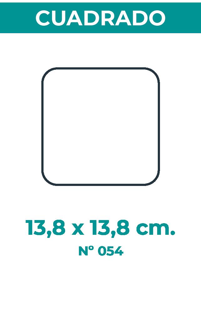 13,8 X 13,8 CM