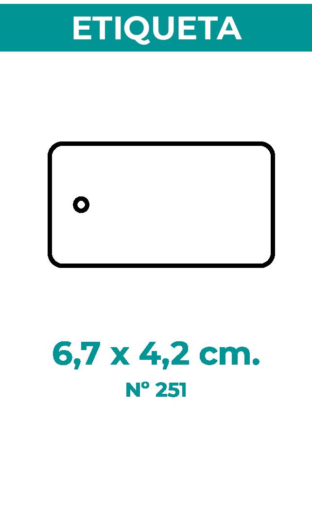 6,7 x 4,2 cm