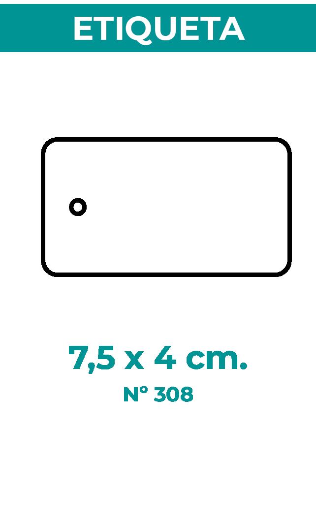 7,5 x 4 cm