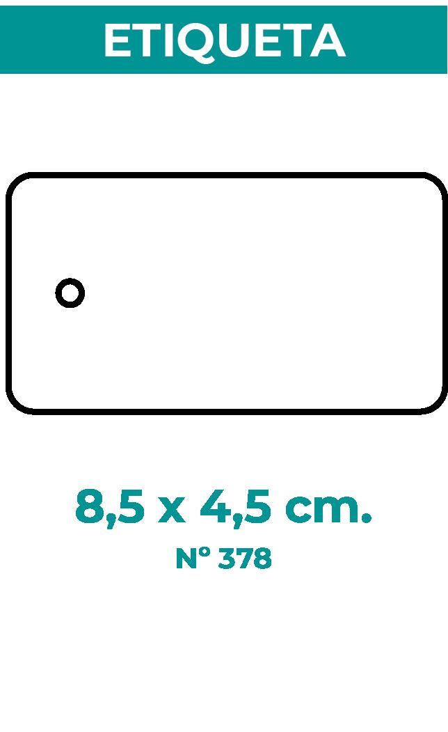 8,5 x 4,5 cm