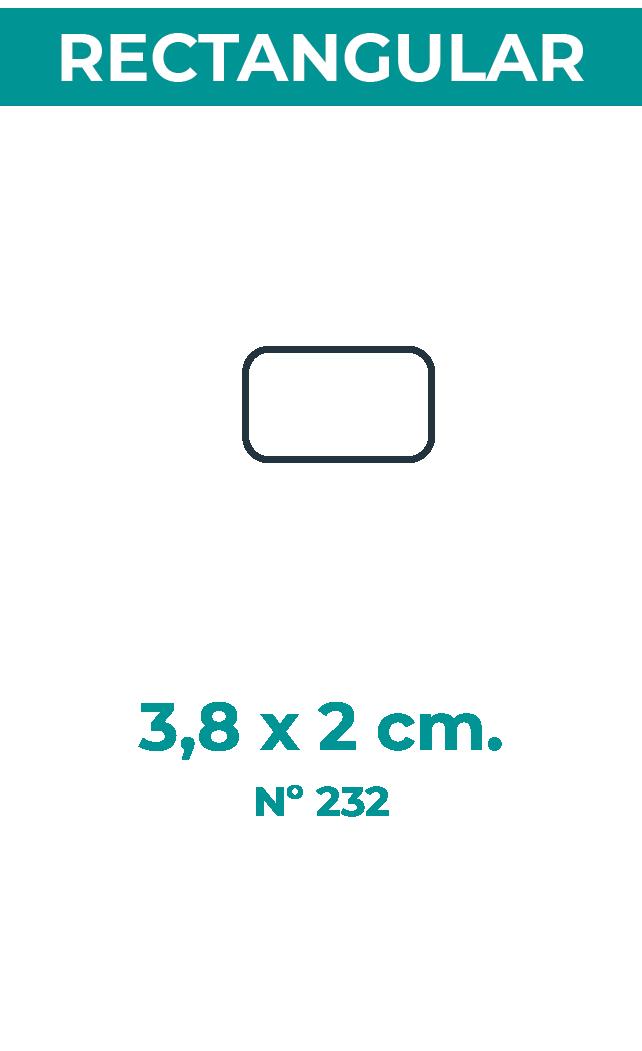 3,8 x 2 cm