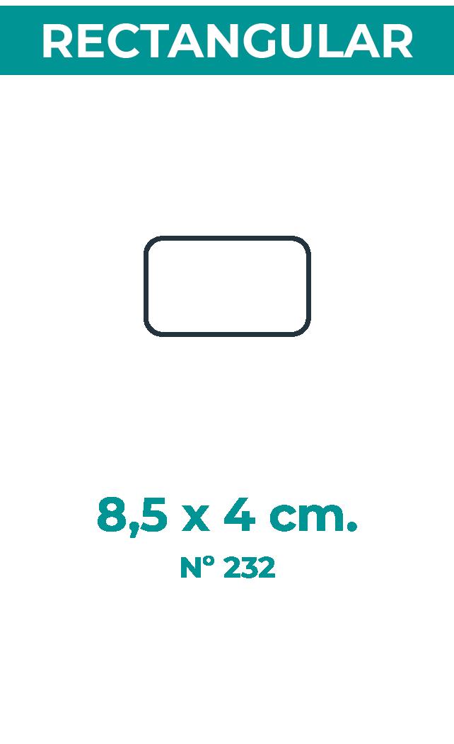 8,5 x 4 cm