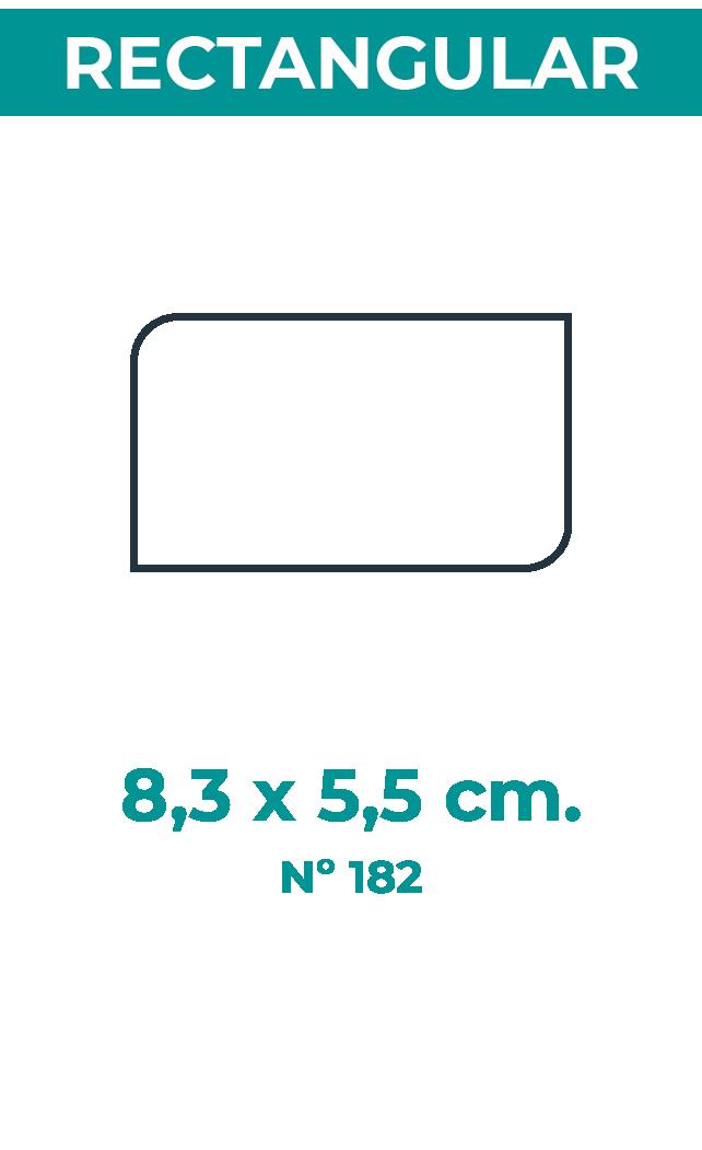 8,3 x 5,5 cm