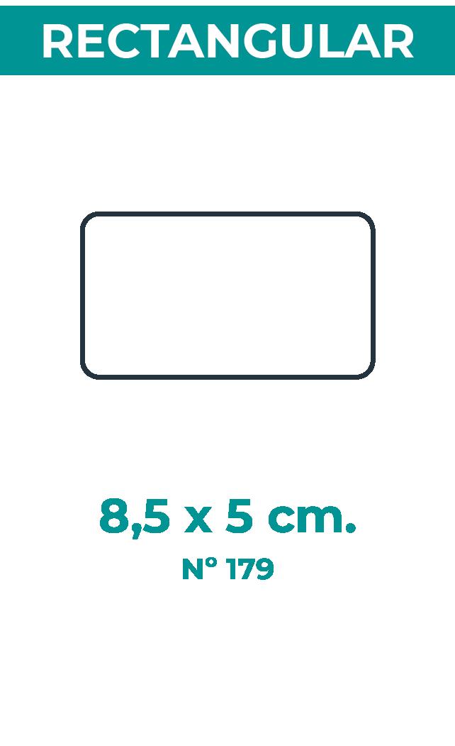 8,5 x 5 cm