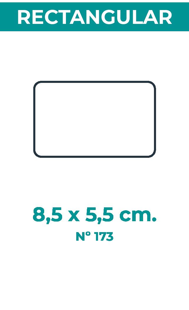 8,5 x 5,5 cm