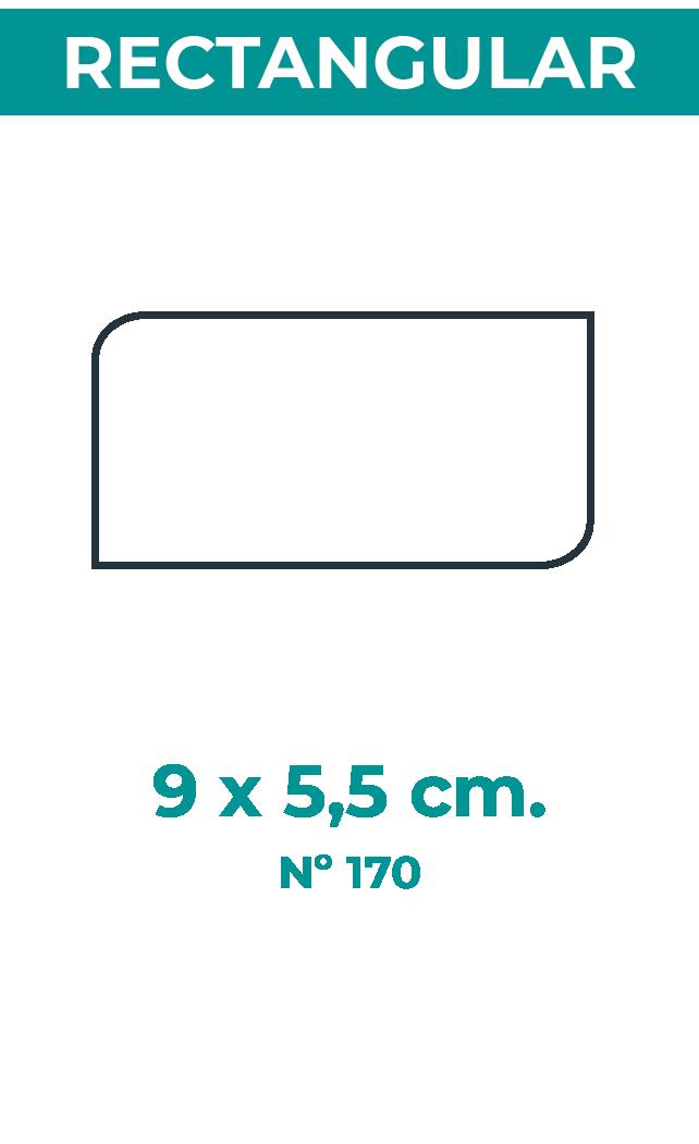 9 x 5,5 cm