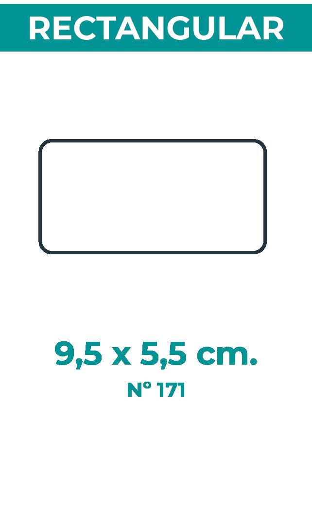 9,5 x 5,5 cm