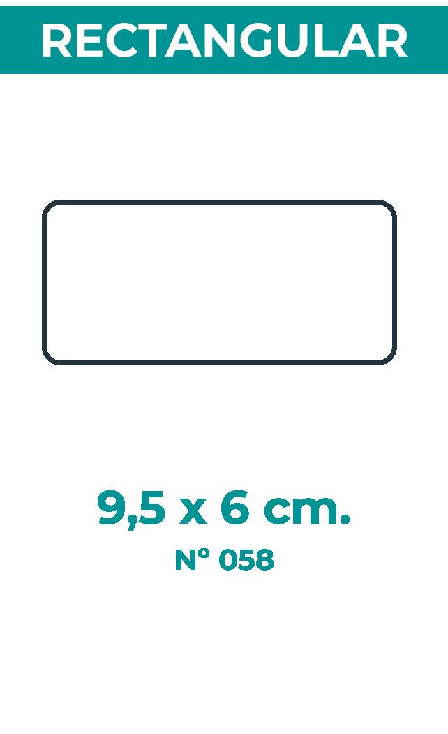9,5 x 6 cm