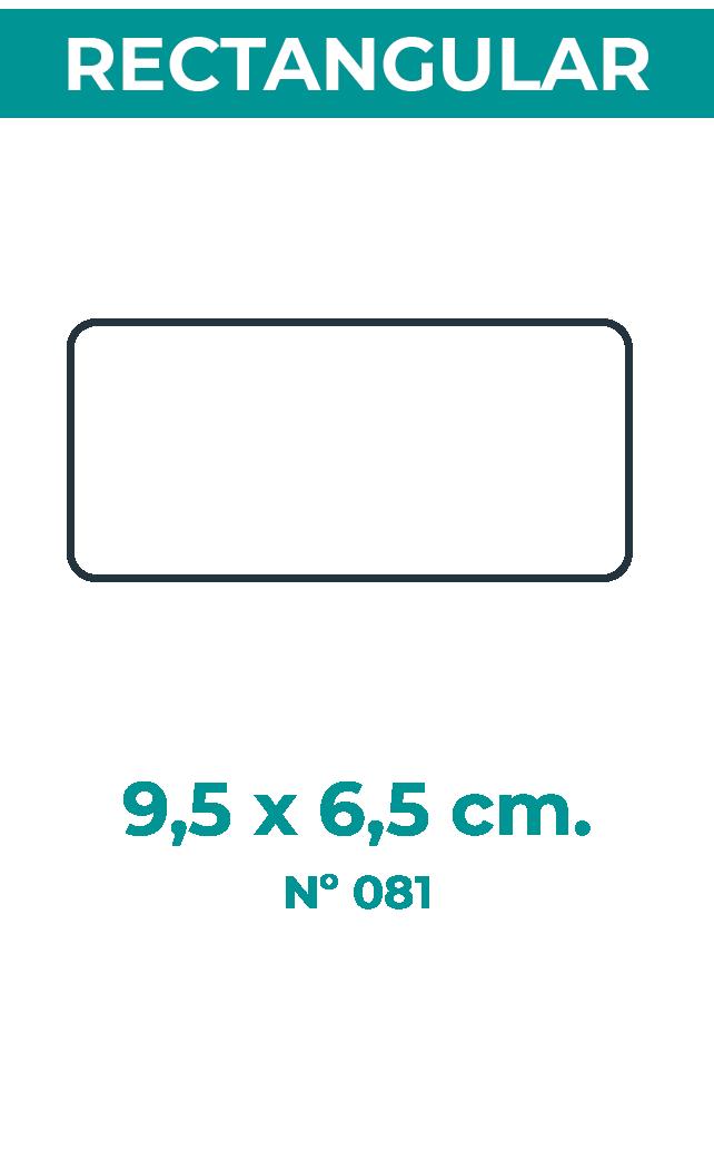 9,5 x 6,5 cm
