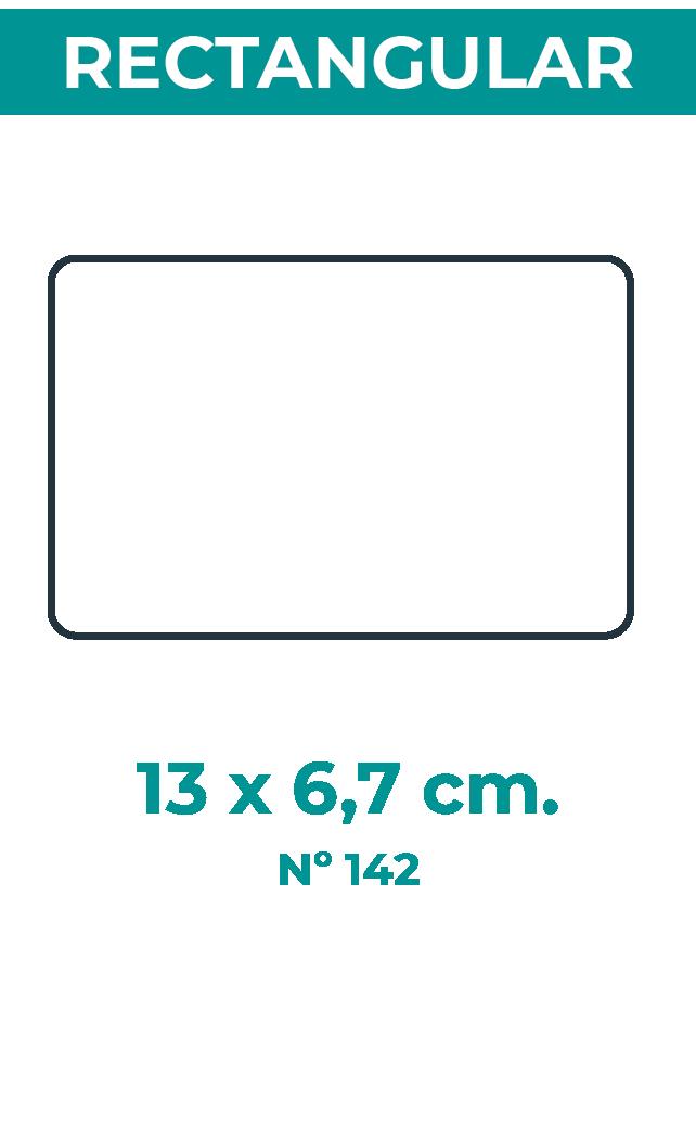 13 x 6,7 cm